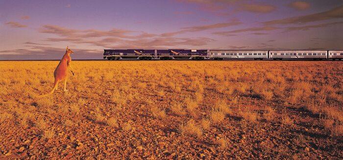 Australien per Zug