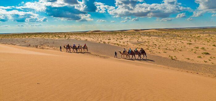 Karawane in der Mongolei